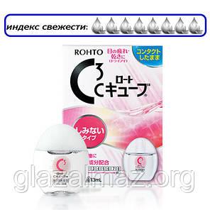 Rohto C3 глазные капли для сверхчувствительных глаз при ношении мягких контактных линз, фото 2