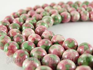 8 мм Розово-зелёный Агат, CN191, Натуральный камень, Форма: Шар, Отверстие: 1мм, кол-во: 47-48 шт/нить, фото 2