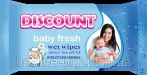 DISCOUNT Влажные салфетки для детей 15 шт. РОМАШКА