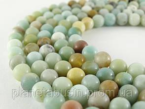 8 мм Амазонит Матовый, VB101, Натуральный камень, бусины, Форма: Шар, Отверстие: 1 мм, кол-во: 47-48 шт/нить, фото 3