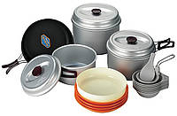 Набор посуды для кемпинга KSK-WY78, анодированный алюминий, на 7-8 персон, мягкий чехол для хранения