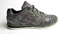 Мужские кожаные кроссовки  Asics gel style grey