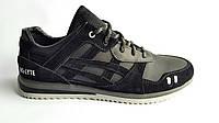 Мужские кожаные кроссовки  Asics gel style black
