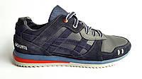Мужские кожаные кроссовки  Asics gel style blue