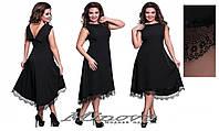 """Асимметричное платье """"Тая"""" размеры от 50 до 56"""