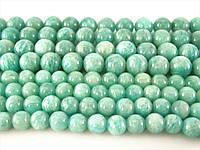 10 мм Бусины Амазонита, Натуральный камень, бусины 10 мм, Круглые, Отверстие 1,5 мм, количество:38 шт/нить