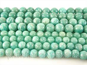 8 мм Русский Амазонит, CN107, Натуральный камень, Форма: Шар, Отверстие: 1 мм, кол-во: 47-48 шт/нить, фото 2
