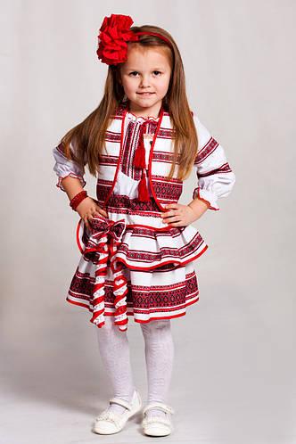Детский вышитый костюм с геометрическим орнаментом Веснянка