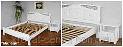 """Белая кровать с мягким изголовьем """"Миледи"""" (200*200см.), массив - сосна, ольха, береза, дуб., фото 3"""