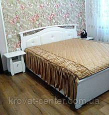 """Белая двуспальная кровать с мягким изголовьем """"Миледи"""" (160х200) от производителя, фото 3"""