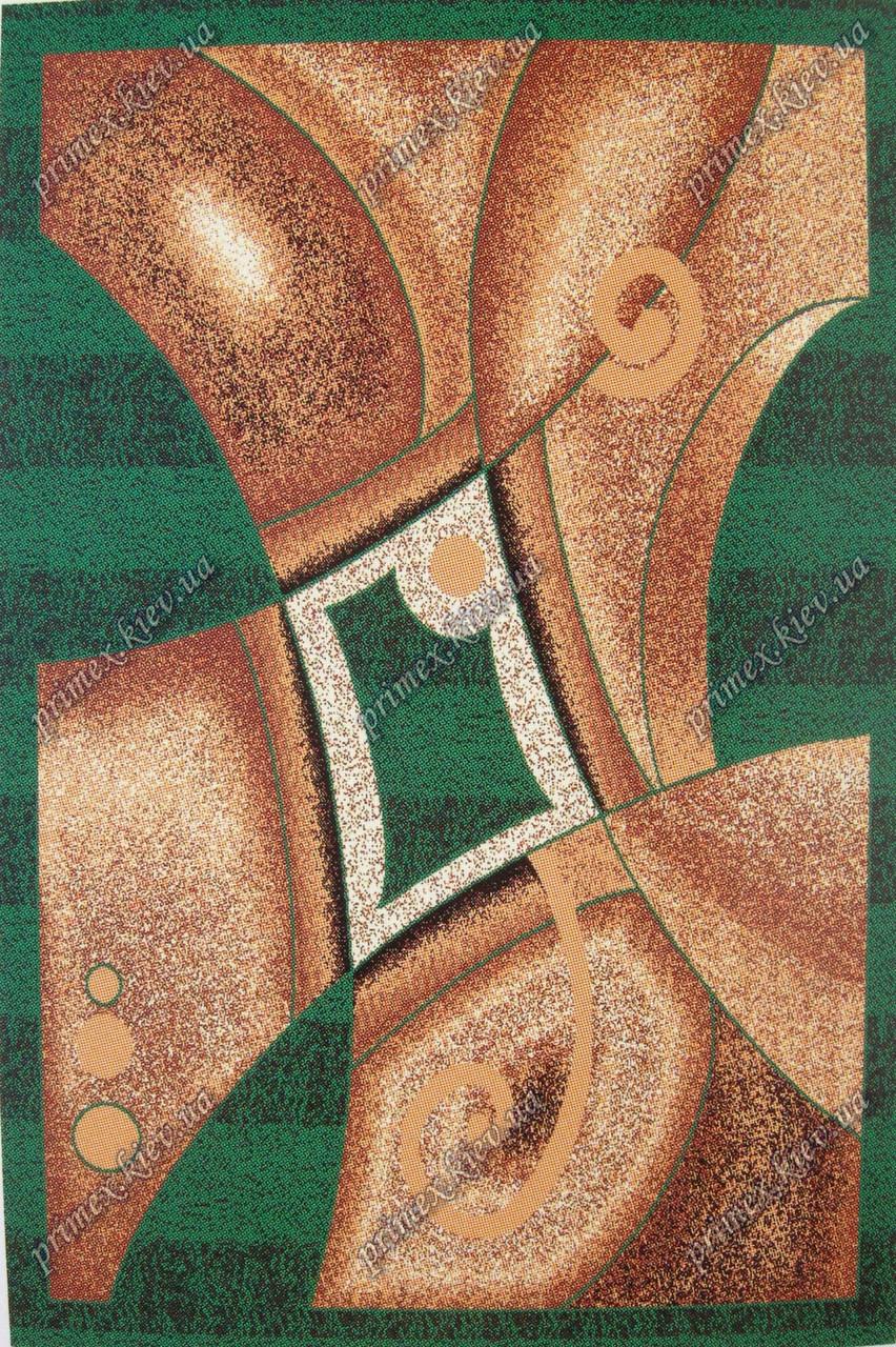 """Синтетичний килим Сілвер Арда """"Спотворення"""", колір зелений"""