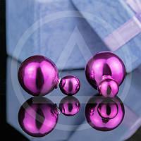 Двойные сережки жемчуг Mise en Dior глянец 032-29SR_opt купить серьги диор оптом