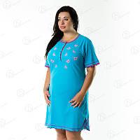 Отличная женская туника-платье домашняя батал Турция  DRM9020 домашняя одежда для дома