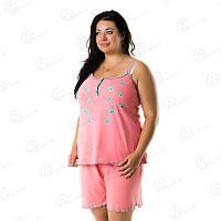 Комплект домашний женский Двойка шорты + майка батал дешево Турция  DRM7905 домашняя одежда для дома
