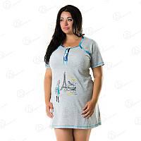 Женская недорогая домашняя туника-платье батал Турция Турция  DRM2211 домашняя одежда для дома