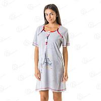 Домашня туника-платье с рукавом купить оптом в Украине  DRM2210 домашняя одежда для дома