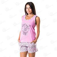 Удобный женский комплект двойка Dalmina майка + шорты норма Турция DLMN4401 купить домашние платья-туники оптом недорого