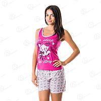 Розовый комплект двойка Dalmina майка + шорты норма Турция  DLMN13047 домашняя одежда для дома недорого