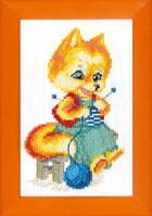 Набор для вышивания крестом Crystal Art Лисичка-рукодельница