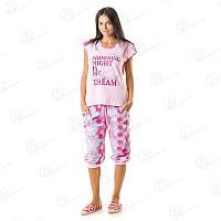 Удобный недорогой комплект двойка футболка + бриджи норма для женщин Турция  DRM9655