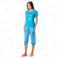Недорогой комплект женский двойка футболка + бриджи норма хлопок Турция  DRM9648 Турция