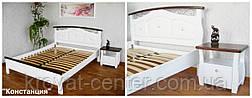 """Белая спальня из массива натурального дерева от производителя """"Констанция"""" (кровать с тумбочками), фото 3"""