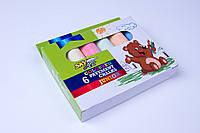 """Мел цветной асфальтный """"Jumbo"""" 6 цветов/упаковка,№7401, мелки детские , фото 1"""