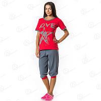 Удобный женский комплект-двойка для дома LoveStar Dalmina майка + бриджи норма Турция  DLMN611_14 купить пижаму, домашние комплекты оптом недорого