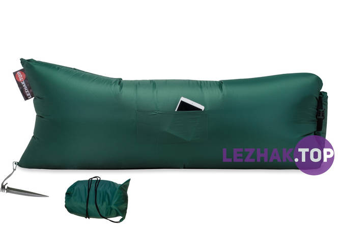 Надувной лежак Ламзак / lamzac - Зеленый