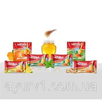 Леденцы  Хонитус, Дабур (имбирь-мед , лимон-мед , мед-тульси)