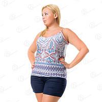 Комплект двойка Vetex Carolina майка + шорты батал Турция KRLN90108 интернет-магазин нижнего белья больших размеров
