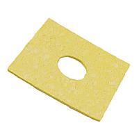 Губка для чистки жала паяльника 60x60 мм. желтая