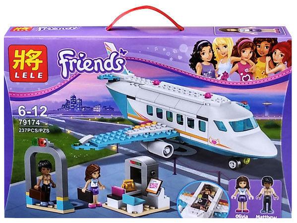 Конструктор Lele серия Friends / Подружки 79174 Частный самолет в Хартлейк (аналог Lego Friends 41100)