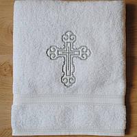 Крыжма полотенце для крещения вышивка крестиком с двух сторон