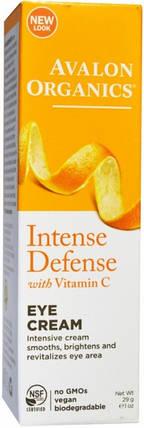 Крем для кожи вокруг глаз с витамином С от Avalon Organics, фото 2