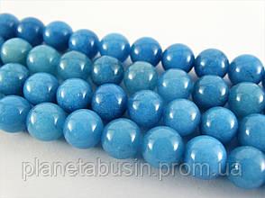 8 мм Аквамарин (Кварц), CN188, Натуральный камень, Форма: Шар, Отверстие: 1мм, кол-во: 47-48 шт/нить, фото 2