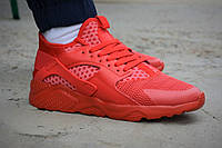 Мужские кроссовки Nike air Huarache ultra red найк хуарачи красные