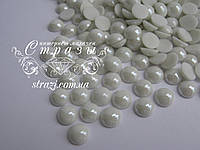 Полужемчуг 10мм термо керамика белый 50шт