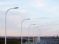 Опора освещения оцинкованная 10м круглая GTR 90/4