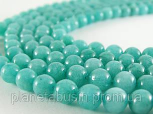 8 мм Голубой Кварц, CN115, Натуральный камень, Форма: Шар, Отверстие: 1 мм, кол-во: 47-48 шт/нить, фото 2