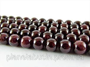 8 мм Гранат АА качество, CN116, Натуральный камень, Форма: Шар, Отверстие: 1 мм, кол-во: 47-48 шт/нить, фото 2