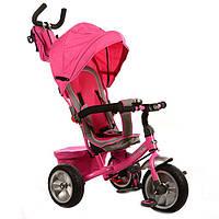 Велосипед трехколесный М 3205А-3 с поворотным сиденьем (розовый)