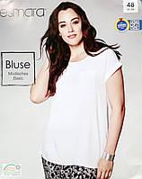 Блузка белая на девушку женская оригинал Esmara 48