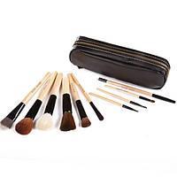 Профессиональный набор кистей для макияжа 10 шт - Bobbi Brown (реплика) ВВ-10 Черный - BB10