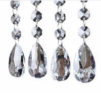 Нить кристаллов, акрил 17 см