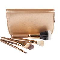Набор кистей для макияжа 4 шт - Make Up Me MAC (реплика) MAC4-GOLD Золото - MAC4-GOLD