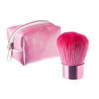 Кисть кабуки в сумочке - Make Up Me KAB Розовая - KAB-PINK