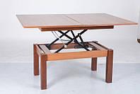Стол трансформер Флай 92х60,5х50/121х92х75 (орех эко)