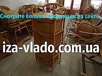 Комод плетеный из лозы Овальный на 4 ящика