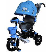 Велосипед 3-х колесный MiniTrike над. кап.(синий)